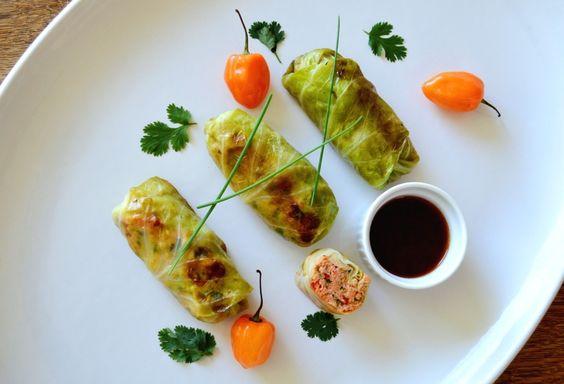 Cabbage Salmon Rolls – Thai Fusion