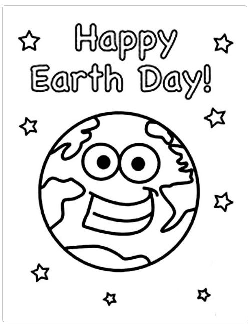 Happy Earth Day Coloring Pages For Kids Preschool And Kindergarten Earth Day Coloring Pages Earth Coloring Pages Earth Day