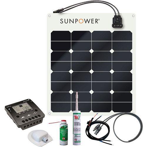 Off Grid Power Generation Solar Kit Sunpower Spr E Flex 50w 12v Solar Kit Off Grid Power Solar Power Charger