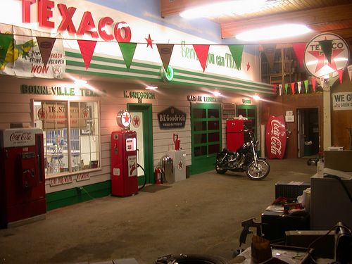 This is a replica of a 1950's era Texaco service station that I