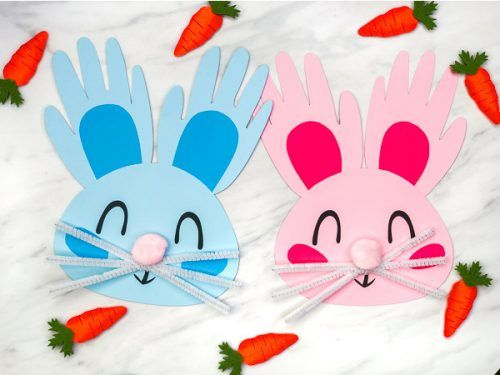 Handprint Bunny Craft For Kids Bunny Crafts Easter Crafts