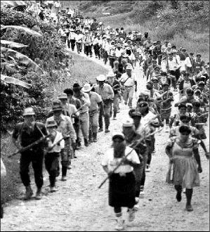 El 1 de enero de 1994 en Chiapas surge el movimiento Zapatista (EZLN) compuesto en su mayoría por indígenas y con principios marxistas, surgió el mismo día en que entró en vigor el Tratado de Libre Comercio entre México, USA y Canadá. Cuando un grupo armado tomó varias cabeceras Municipales de Chiapas. Los Zapatistas emiten La declaración de la Selva Lacandona en la que se declaran en guerra y piden trabajo, tierra, salud, educación y más derechos básicos...