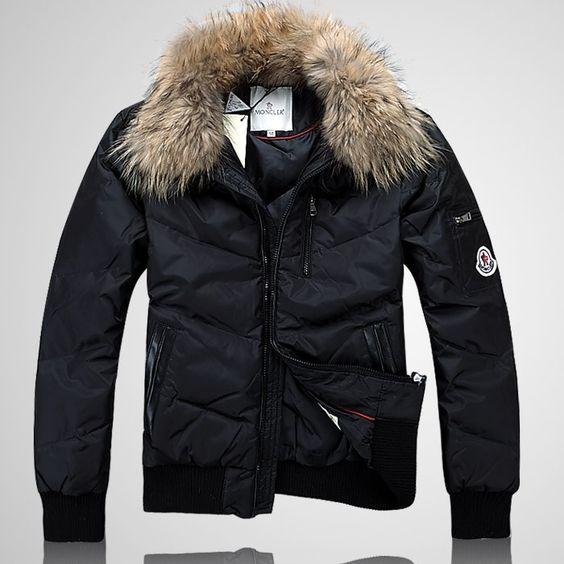 cb01bcfb1 Moncler Striped Technical Menuire Mens Jacket Black Short | Wye Blocks