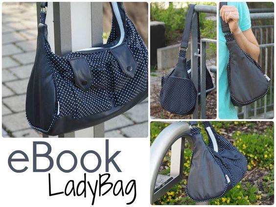 EBook+Schnittmuster+Tasche+LadyBag+Nähanleitung+von+Keko-Kreativ+auf+DaWanda.com