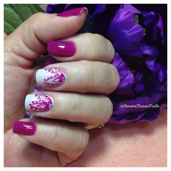 Nails, Violet, designs