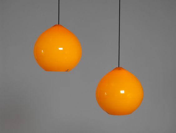 Pair of Large Vistosi Lamps