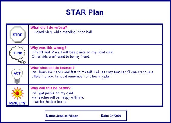 Large example image of the STAR Plan card.