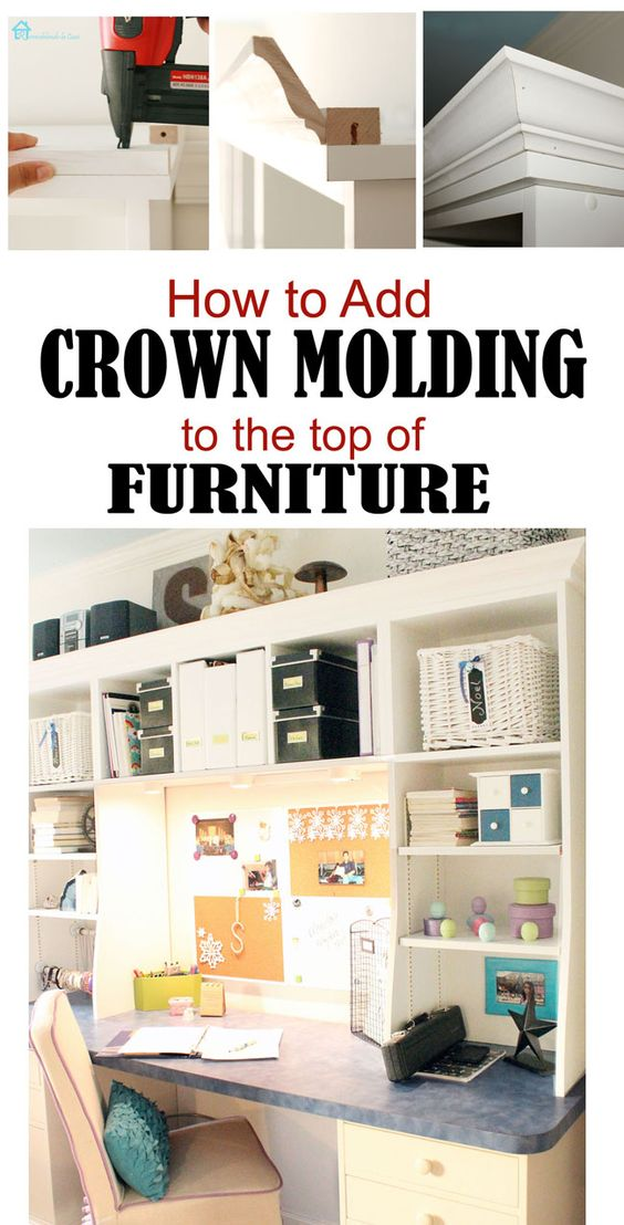 How to add crown moulding to the top of furniture