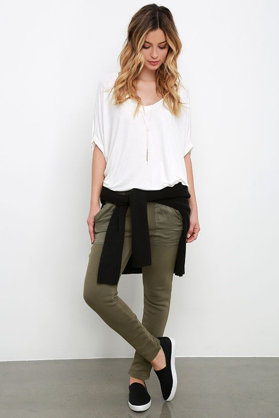 Brilliant Wear Green Pants Work 10 Outfit Ideas  What To Wear With Green Pants