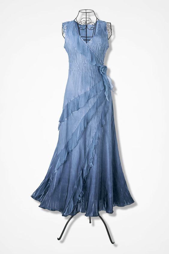 Ruffles & Romance Chiffon Dress by Komarov - Coldwater Creek