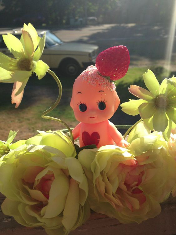 Kewpie strawberry head