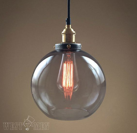 retro glass ball pendant lamp globe vintage open bubble ceiling light with copper lamp holder clear ceiling lighting kitchen contemporary pinterest lamps transparent