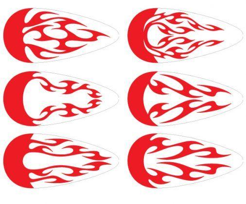 Vectores Tuning Motos Tribales Llamas Dragon Ball Color Me Stickers