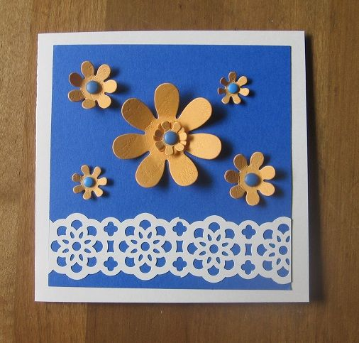 Punch art flowers cd case envelope by carolynn cards for Pre punched paper for crafts