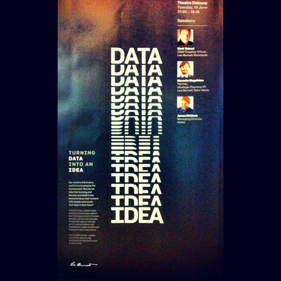 Turning Data into an Idea. #CannesLions  (via @reclamemultishow - statigram)