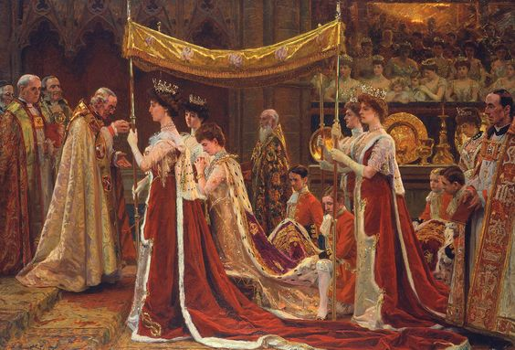Laurits Tuxen (1853 -1927) —The Anointing of Queen Alexandra at the Coronation of Edward VII,1902  (1499×1018)