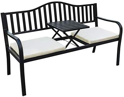 Amazon Com Sundale Outdoor Deluxe Cast Iron Steel Frame Patio