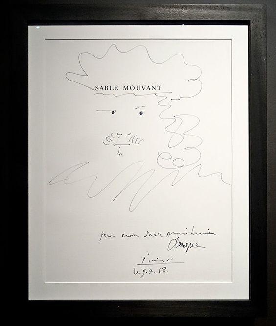 Picasso, Sable mouvant, 1966