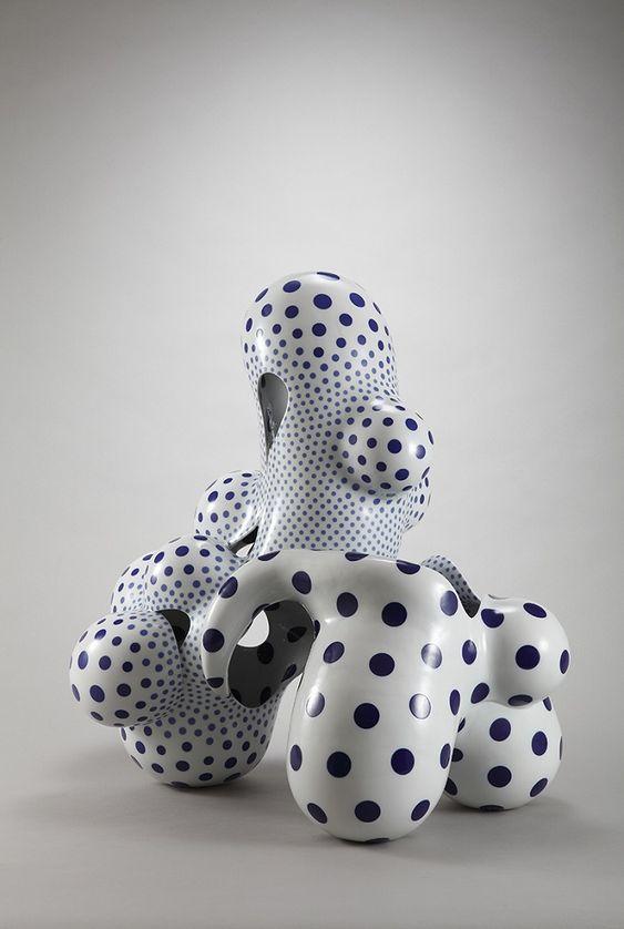 """Japanese artist Harumi Nakashima creates free-form ceramic sculptures that feature organic, yet psychedelic characteristics."" http://iloboyou.com/awesome-ceramic-sculptures-by-harumi-nakashima/"