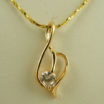 PT6- Gold Plated Cubic Zirconia Pendant  http://www.craftandjewel.com/servlet/the-398/PT6-dsh----Gold/Detail