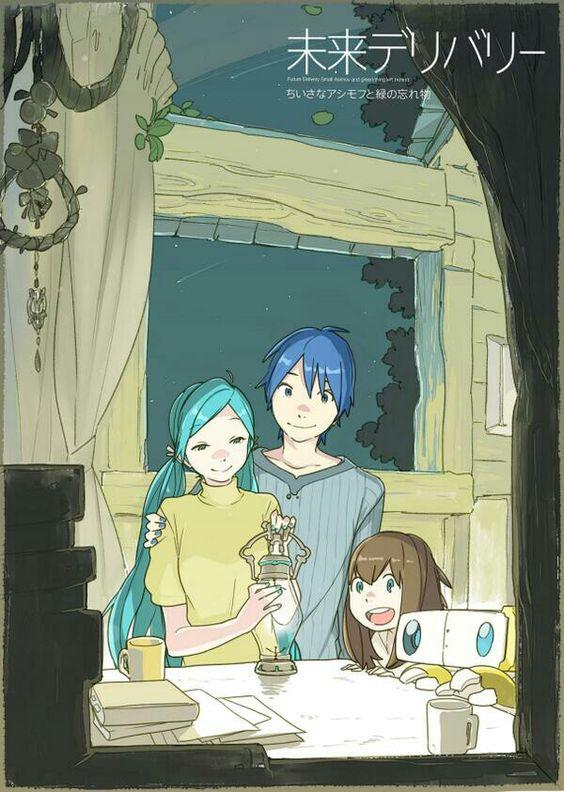 Miku, Kaito and girl