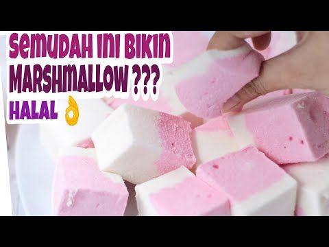 Membuat Permen Kenyal Homemade Marshmallow Takaran Sendok Youtube Permen Marshmallow Makanan