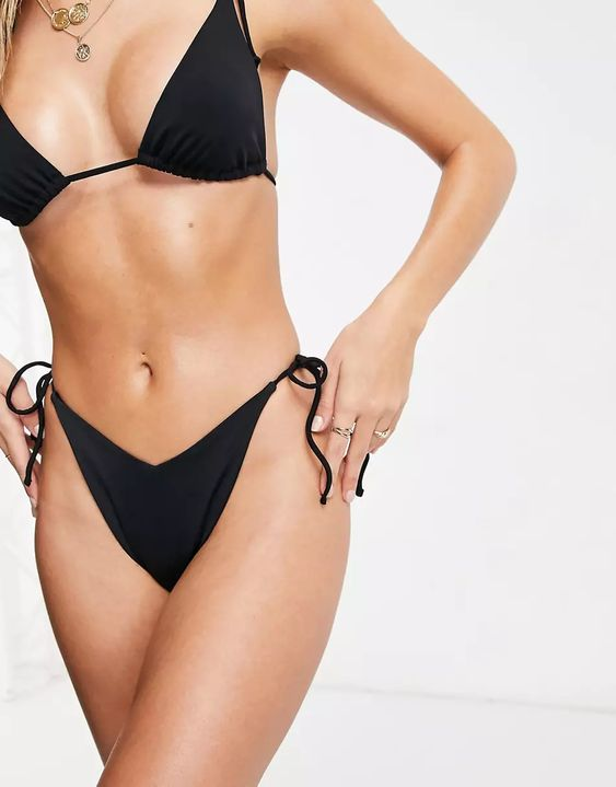 asos design Recycled High Triangle Bikini Top and bottoms