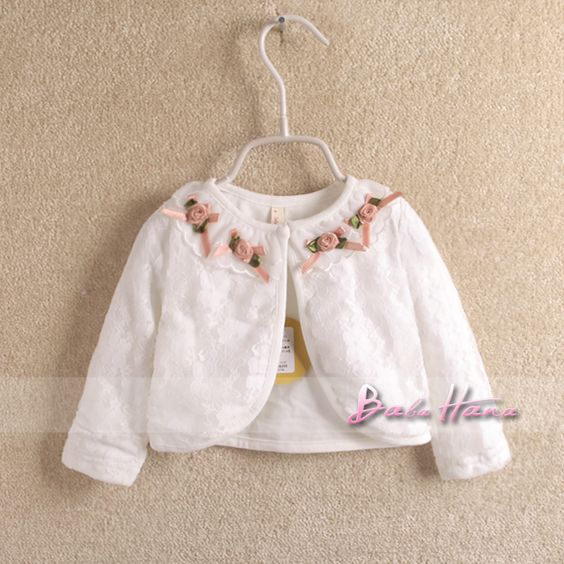 free shipping 2013 spring child baby girls clothing cotton lace collar 100% open front shrug coat cape $18.64