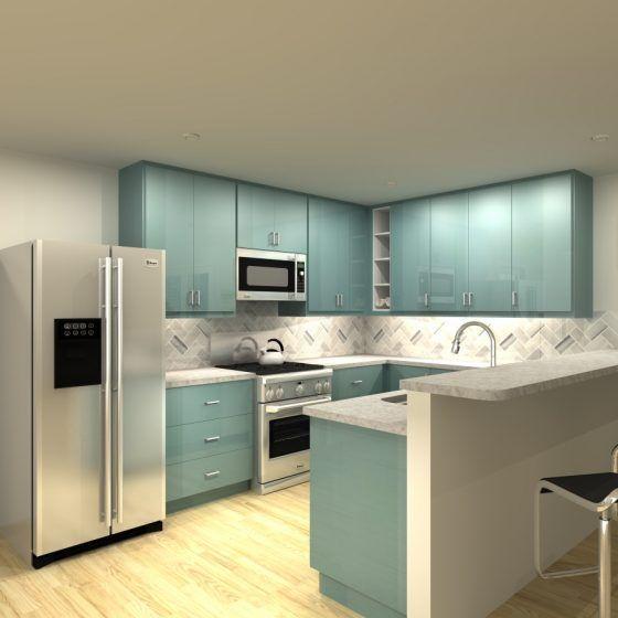 Three Ikea Kitchen Cabinet Designs Under 4 000 Cost Of Kitchen Countertops Diy Kitchen Remodel Kitchen Remodel Small