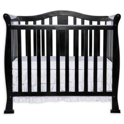Dream On Me Naples 4 In 1 Convertible Mini Crib In Black Cribs Mini Crib Dream On Me