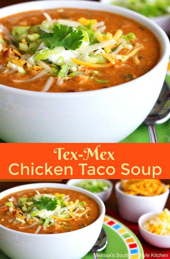 Tex Mex Chicken Taco Soup | Recipe