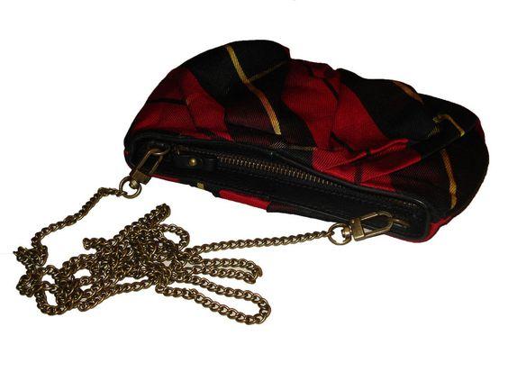 Ralph Lauren Polo Black Tartan Plaid Clutch Bag #PoloRalphLauren #Clutch