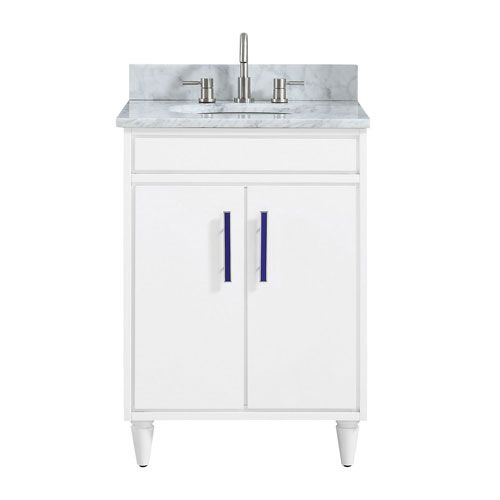 251 First Nicollet 25 In Vanity Combo In White Contemporary