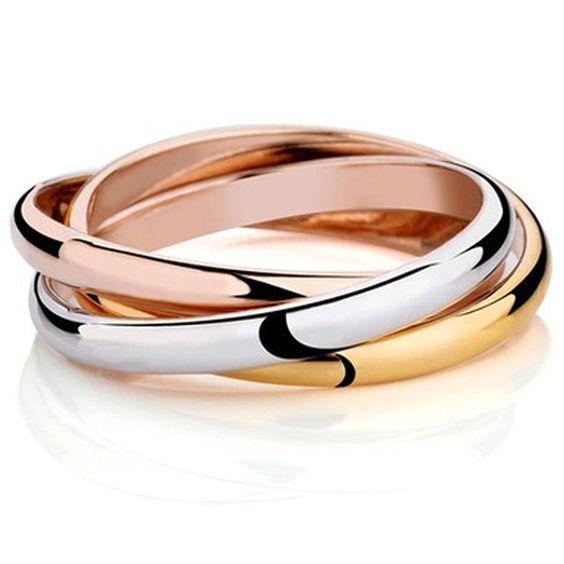 Barato 3 cor Anel 18 K banhado a ouro marca anéis para as mulheres anéis de casamento festa elegante subiu de ouro jóias finas JZ5502, Compro Qualidade Anéis diretamente de fornecedores da China:        3 cor anel 18 k banhado a ouro anéis de marca para mulheres elegantes da festa de casamento anéis Rose Gold Fine