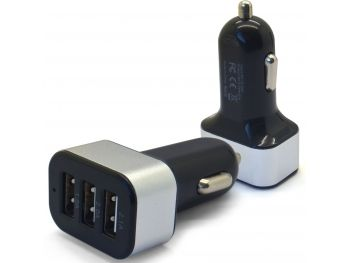 Micro chargeur voiture / Allume cigare Xcharge 3X USB - 2.1/2/1A - 5100mAh Noir