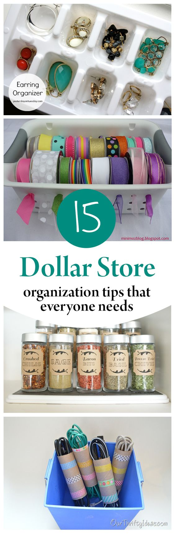 Spice Jars Organization Hacks And Cleaning Hacks On Pinterest