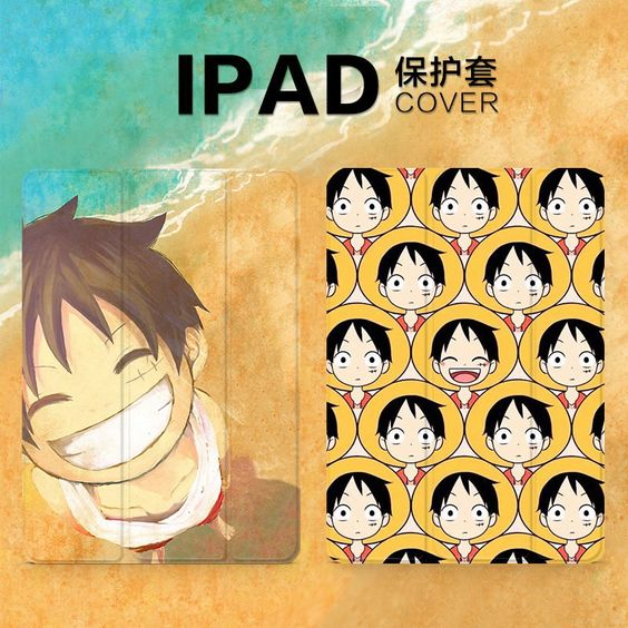 IPad 1          iPad Pro 9.7 protective cover with cartoon animation female and the tide pattern