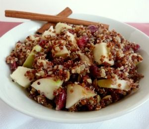 Cranberry Apple Cinnamon Quinoa