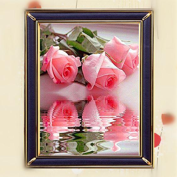 Goedkope Ruitvormige roze roos borduren kruis kleurrijke diy vierkante stok boor tekening hars diamant strass bloem olieverfschilderij 30x40., koop Kwaliteit diamant schilderen kruissteek rechtstreeks van Leveranciers van China: Van harte welkom om onze winkel! ~~~~~~~~~~Uw steun is onze motivatie altijd!!!Stuur ons dan bericht als u een onderzoek
