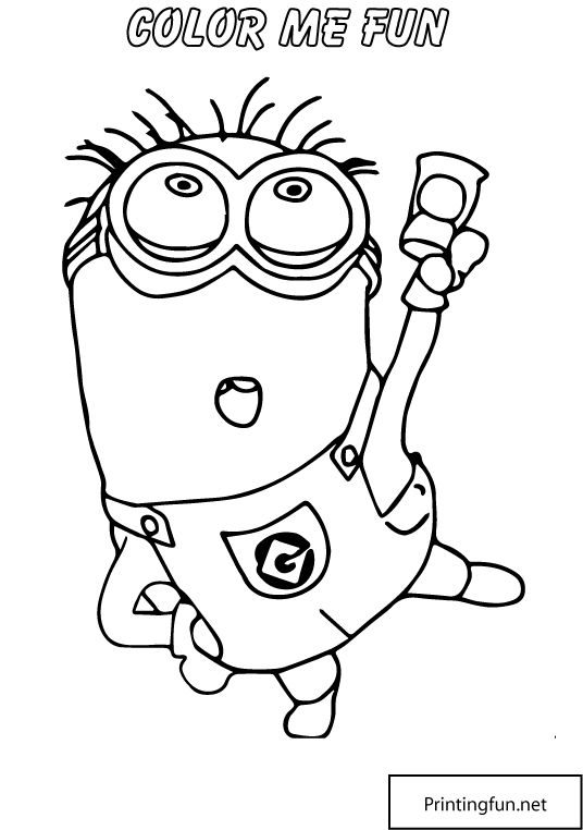 coloring pages minions angen - photo#2