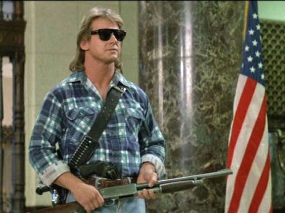 """Roddy Piper as John Nada (They Live): """"I have come here to chew bubblegum and kick ass. And I'm all out of bubblegum."""""""
