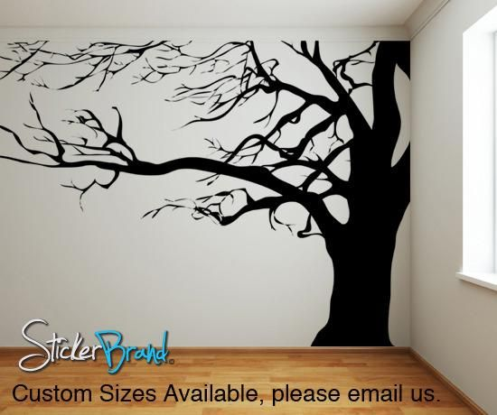 Large Spooky Bare Tree Branches Vinyl Wall Decal Sticker Ac122 Family Tree Mural Tree Wall Murals Tree Wall Decal