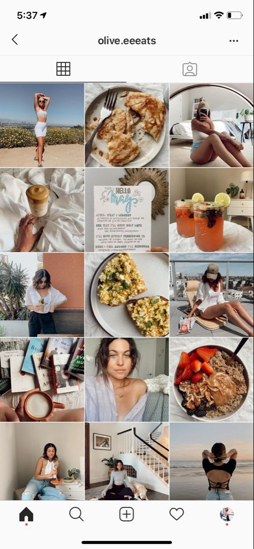 Health and fitness aesthetic instagram