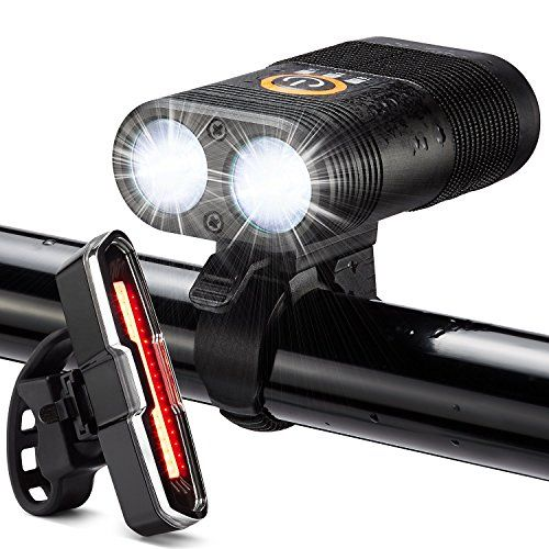 Bike Light LED Set Perfect For Mountain /& Street /& Night Ridi Front And Back