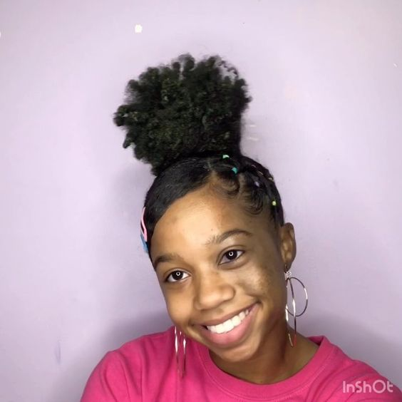 easy side part rubber band hairstyle