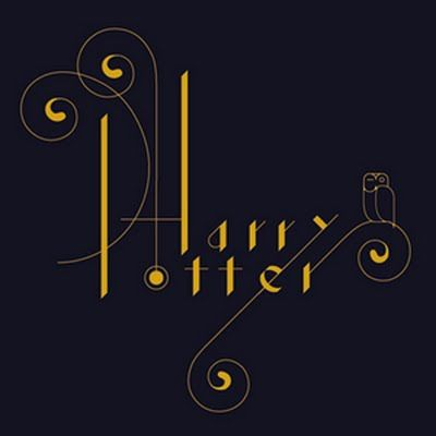 Very lovely Harry Potter typography. Not sure who the exact artist is to give credit.