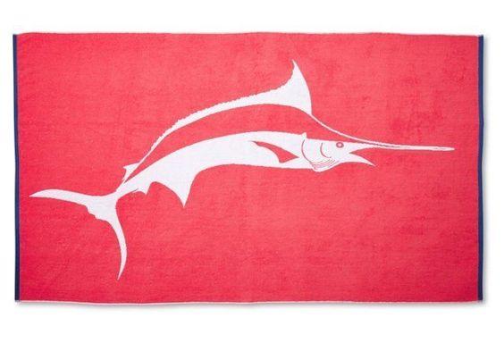 Marlin Beach Towel, Cayenne/Midnight