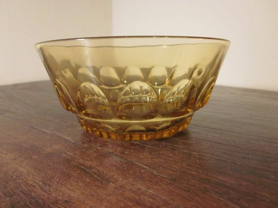 Small Amber Bowl Perfect Condition by MountainShine on Etsy, $4.00