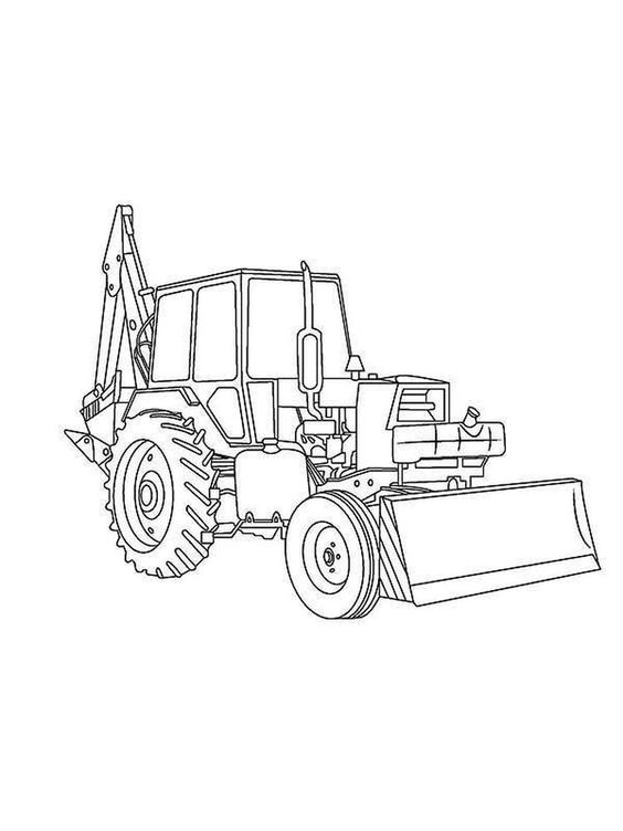 Mini Excavator Coloring Pages Excavators Are Heavy Equipment Consisting Of Arms Tractor Coloring Pages Free Printable Coloring Pages Printable Coloring Pages