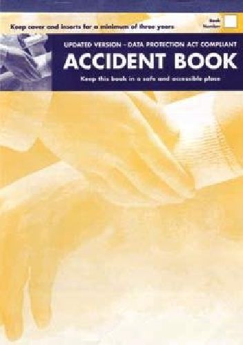 Accident record Book Data Protection Act 1998 Compliant - £2.95 First Aid Injury Record Book A4 size Data Protection Act 1998 Compliant  By law every business must record accidents to employees and visitors  Space to record a total of 53 incidents in each book